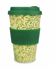Ecoffee Cup Reusable Bamboo Cup William Morris Willow Print