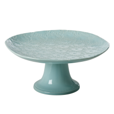 Mint Large Embossed Stoneware Cake Stand By Rice DK