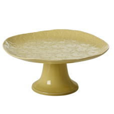 Pastel Lime Green Large Embossed Stoneware Cake Stand By Rice DK