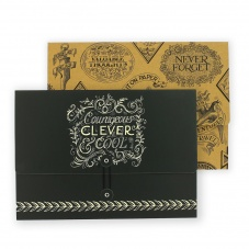 Emma Bridgewater Black Scroll Set of 2 A4 Document Wallets