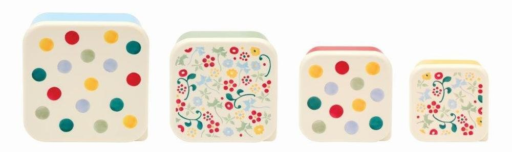 Set of 4 Polka Dot Print Snack Boxes By Emma Bridgewater