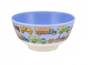 Emma Bridgewater Men At Work Blue Melamine Bowl