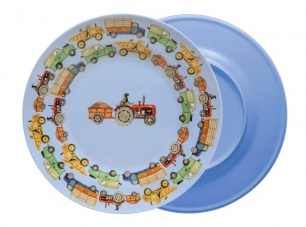 Emma Bridgewater Men At Work Blue Melamine Plate