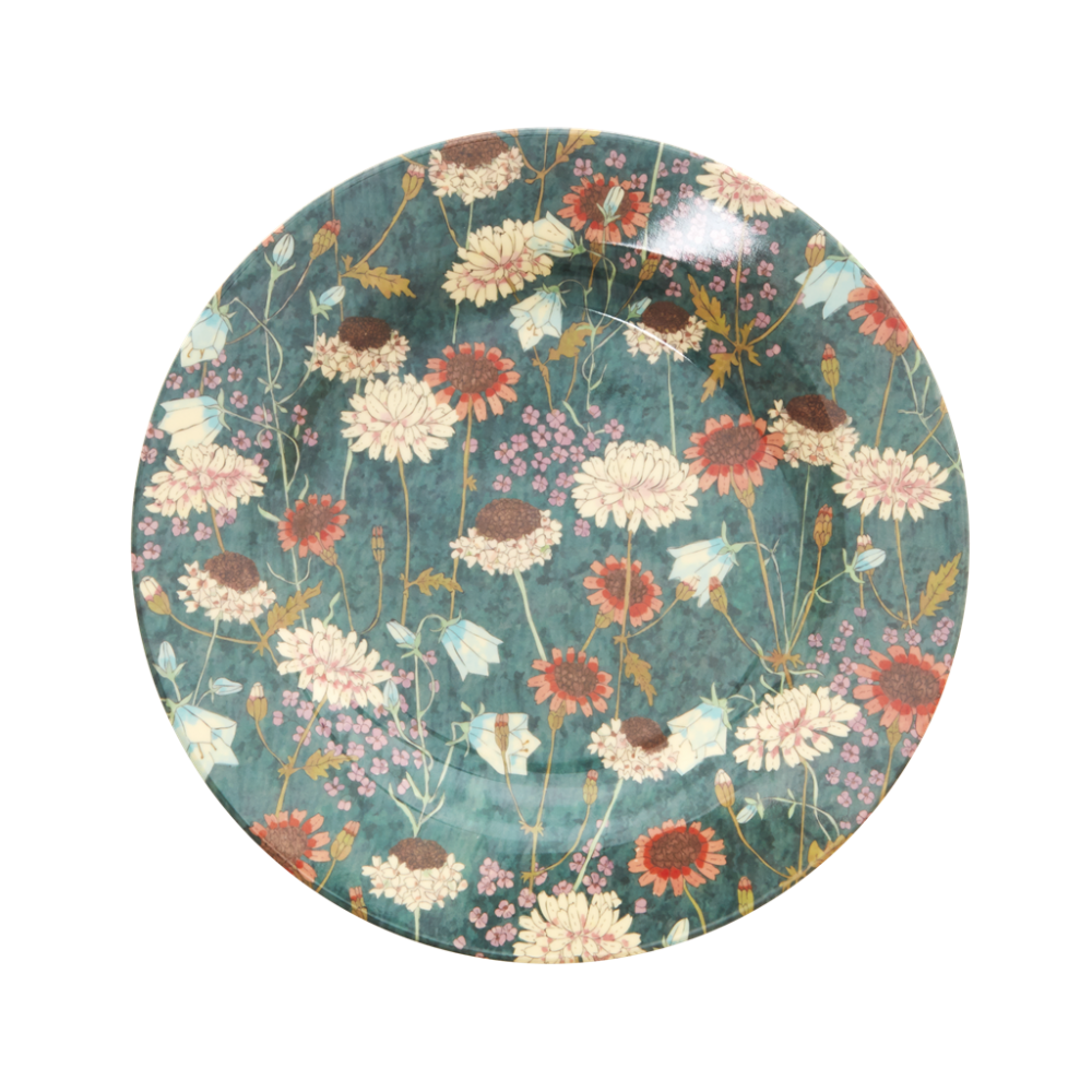 Fall Flower Print Melamine Side Plate By Rice DK