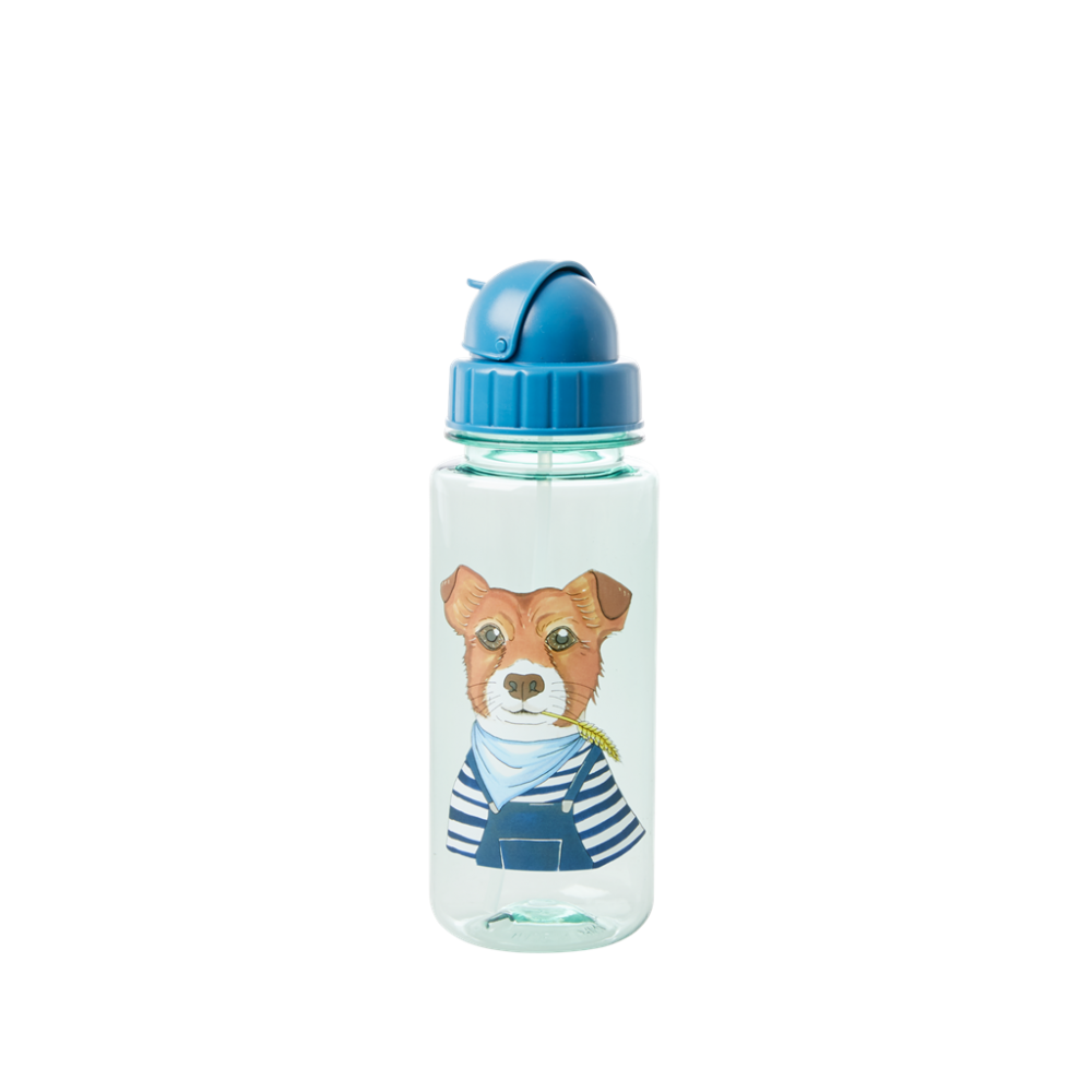 Blue With Dog Print Kids Water Bottle By Rice DK