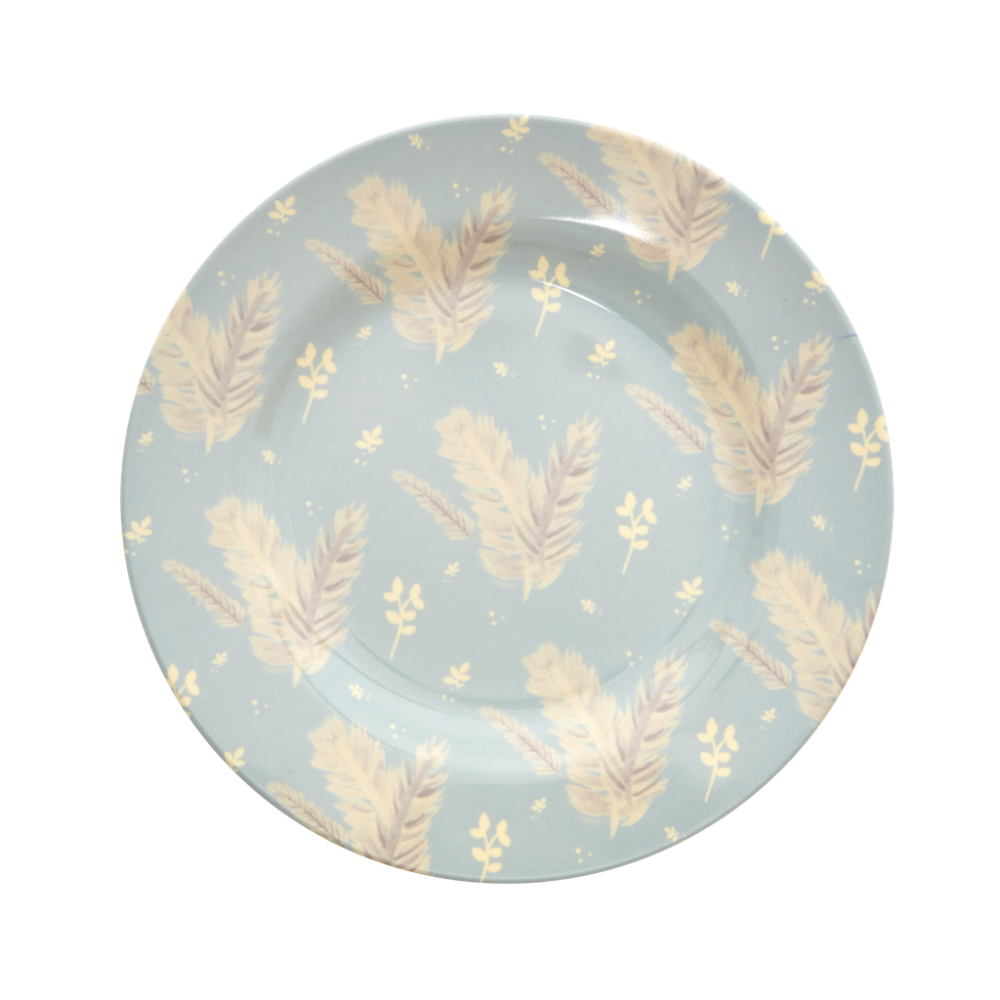 Feather Print Melamine Side Plate By Rice DK