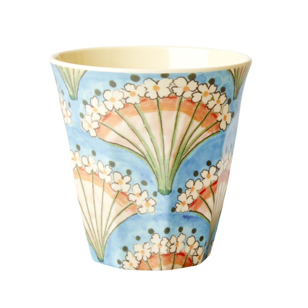 Flower Fan Print Melamine Cup By Rice DK