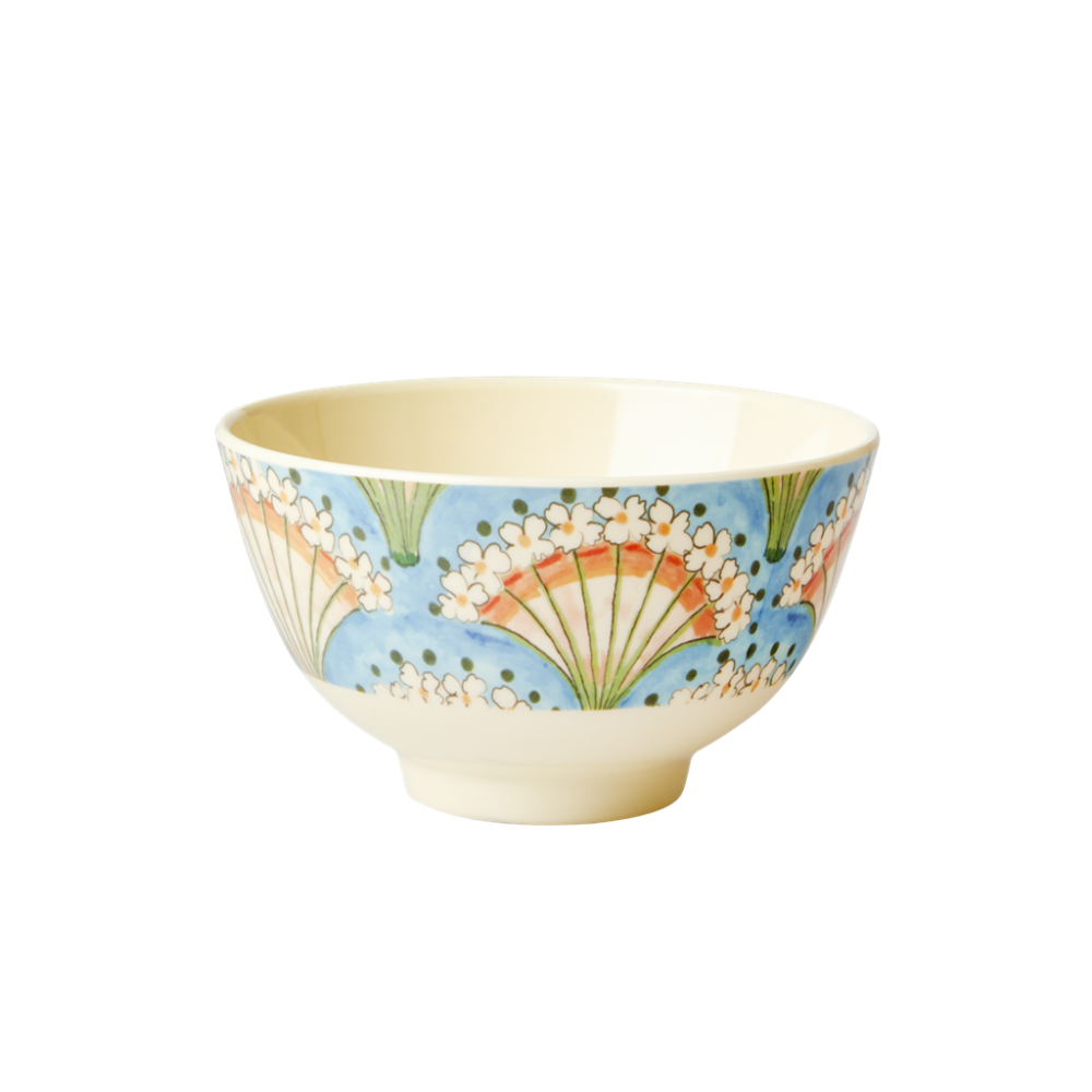 Flower Fan Print Small Melamine Bowl By Rice DK