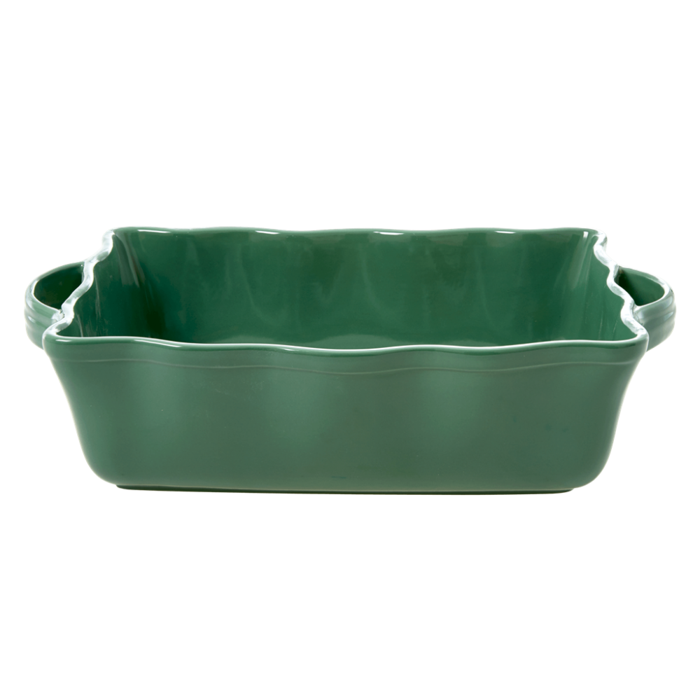 Large Stoneware Oven Dish in Forest Green by Rice DK