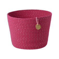 Round Rope Storage Basket In Fuchsia By Rice DK
