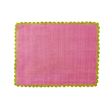 Raffia Placemat in Fuchsia with Anis Crochet Border By Rice