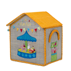 Fun Fair Raffia Toy Storage Basket Rice DK