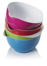 Colourful Small Melamine Mixing Bowl by CKS Zeal non slip base