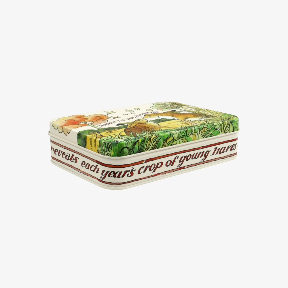 Game Bird Print Small Rectangular Tin Emma Bridgewater