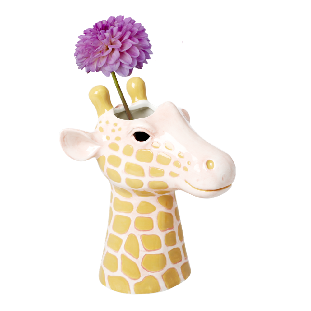 Giraffe Head Ceramic Vase By Rice DK