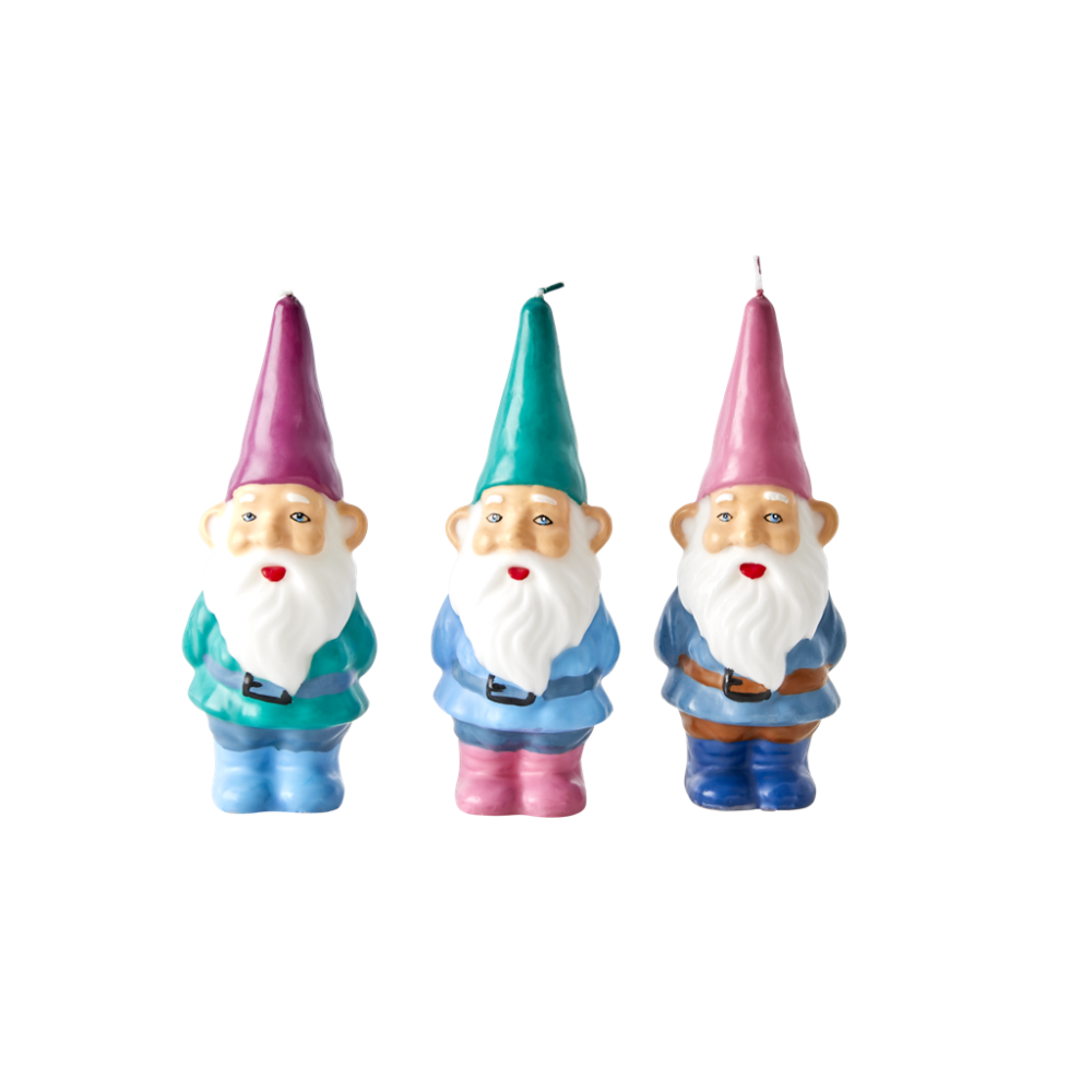 Gnome Shaped Candles By Rice DK