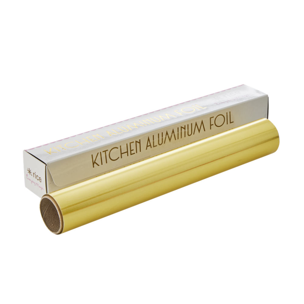 Aluminum Kitchen Foil in Gold By Rice DK