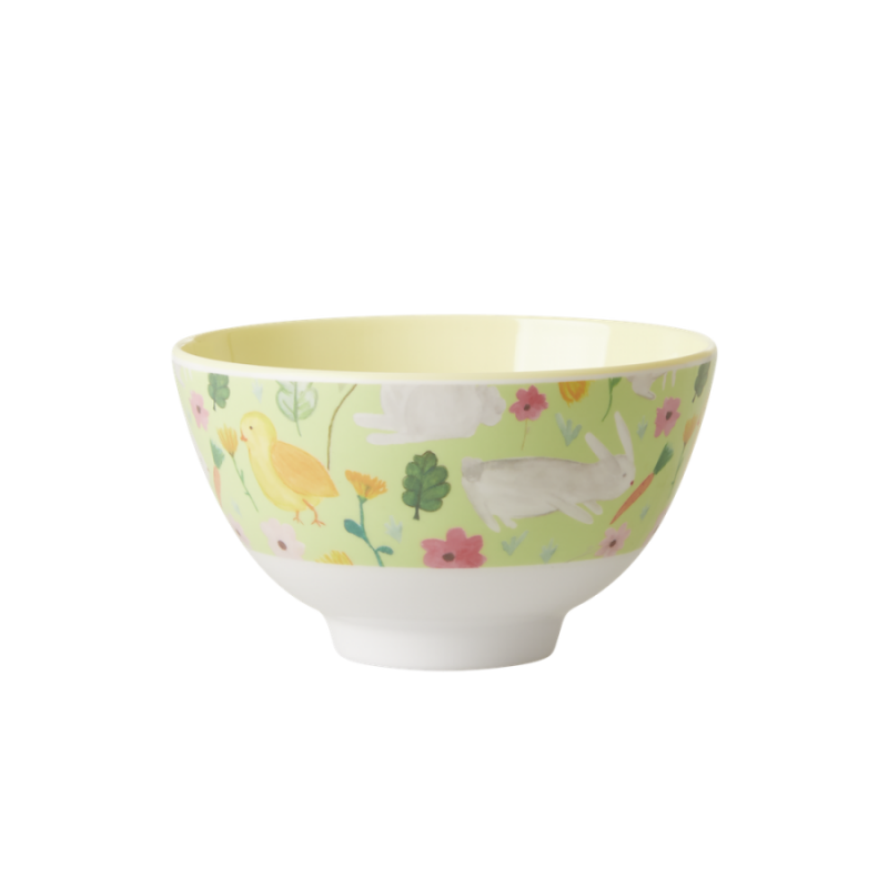 Green Easter Print Small Melamine Bowl Rice DK