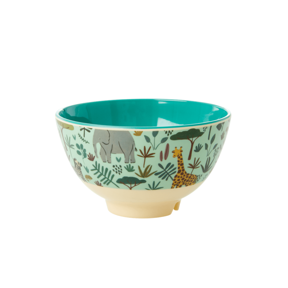 Jungle Green Print Small Melamine Bowl By Rice DK[1]