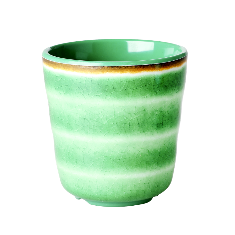 Green Melamine Cup with Swirl Print Rice DK