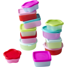 Small plastic food storage snack boxes set of 12 Rice DK