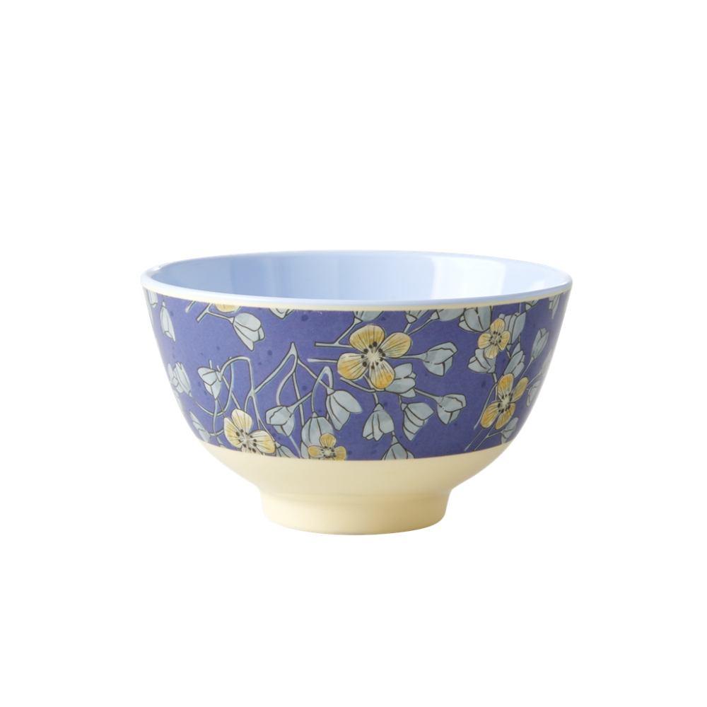 Hanging Flower Print Small Melamine Bowl By Rice DK