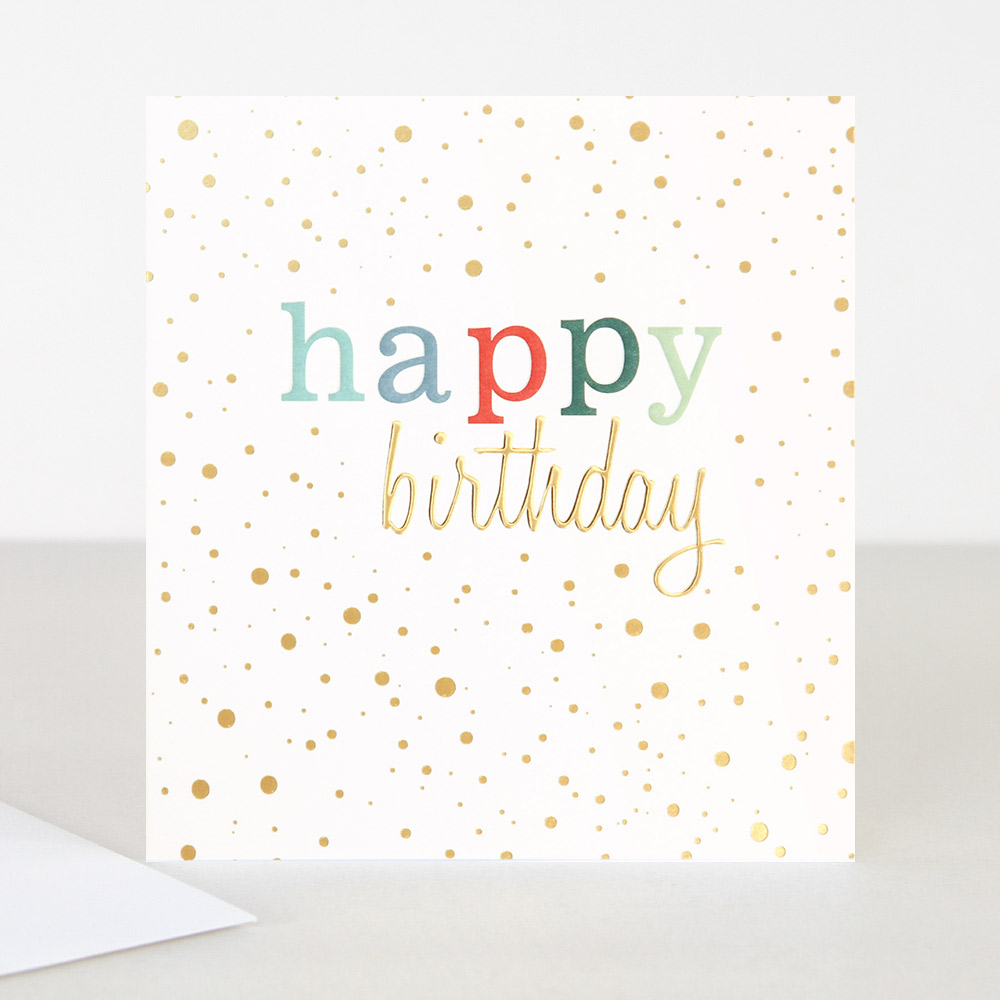 Astounding Colourful Happy Birthday Card By Caroline Gardner Vibrant Home Personalised Birthday Cards Paralily Jamesorg