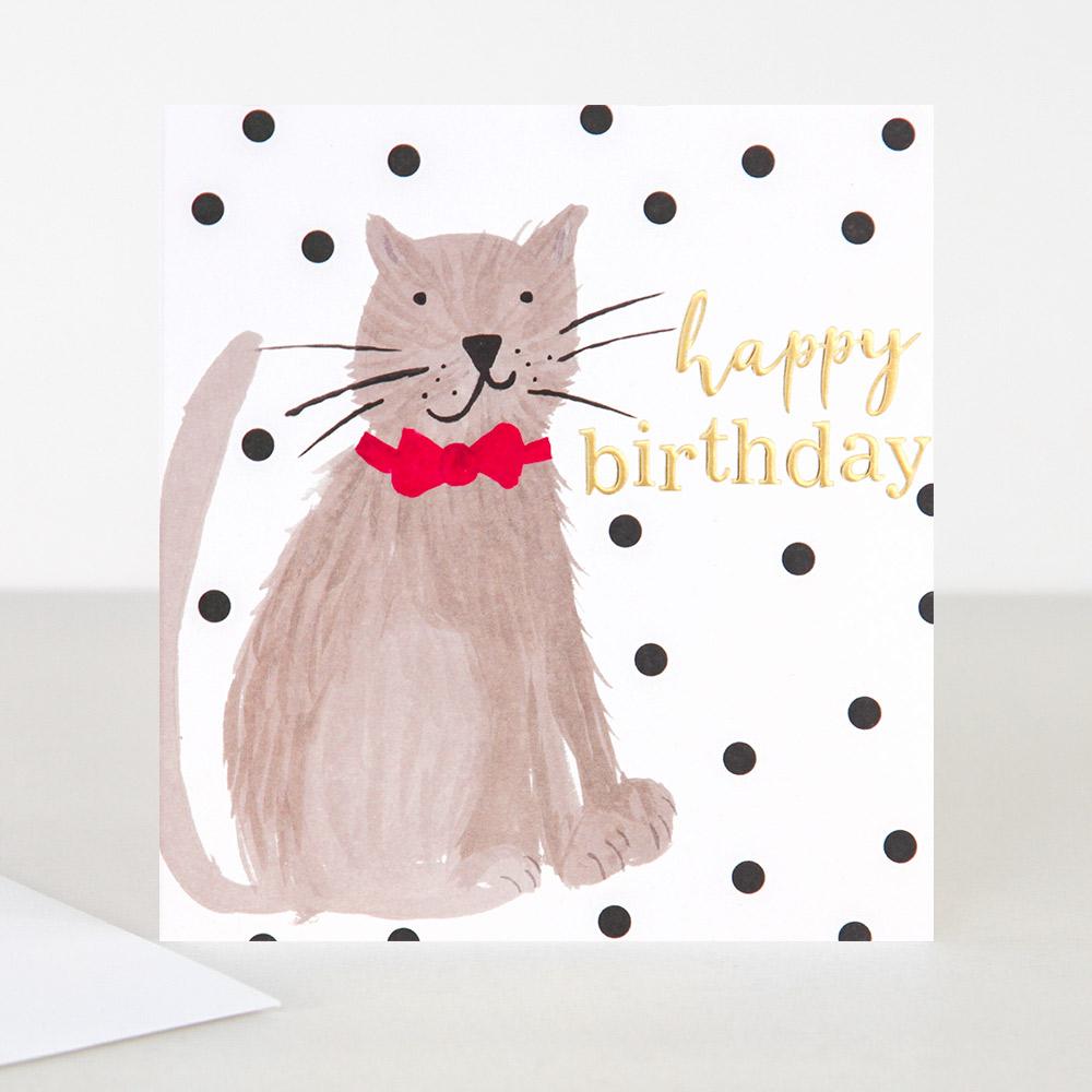 Cat Birthday Card By Caroline Gardner