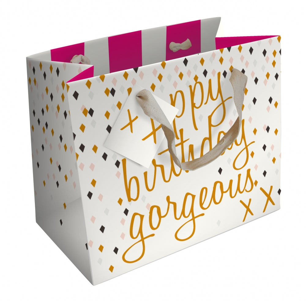 Happy Birthday Gorgeous Gift Bag By Caroline Gardner