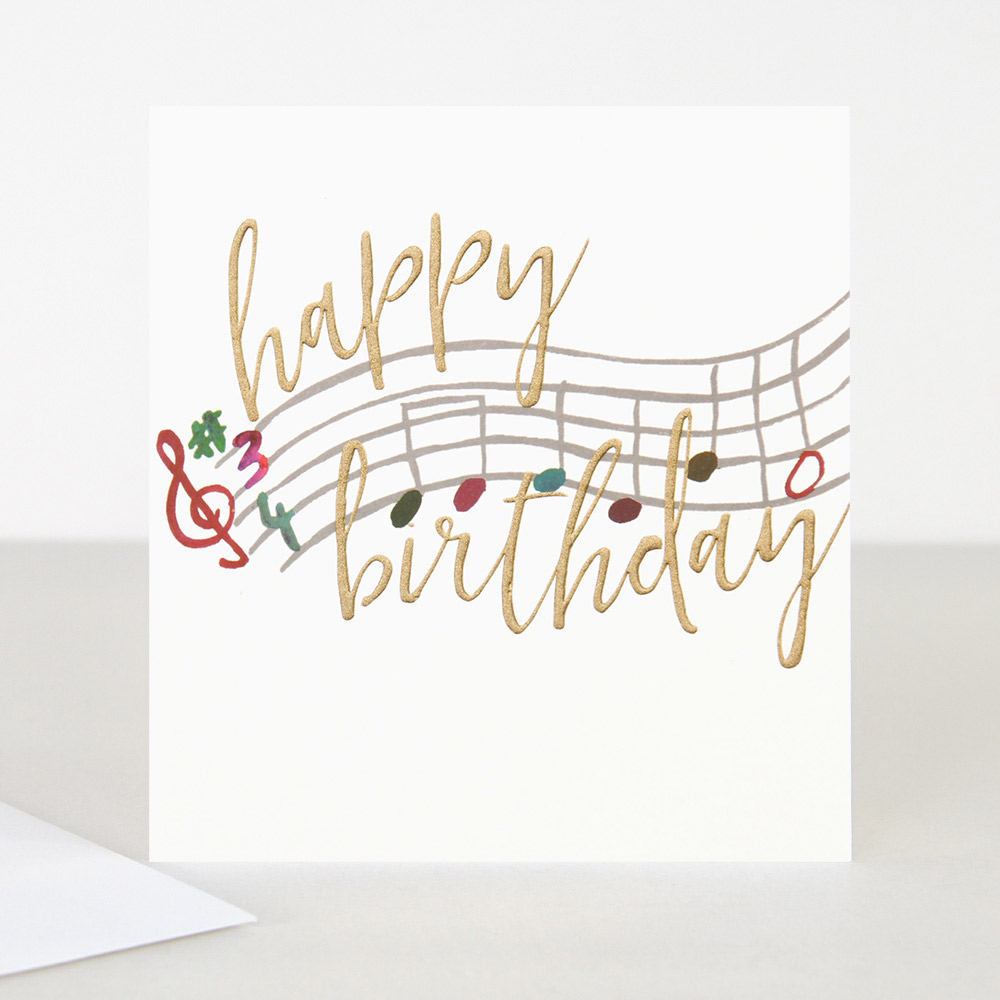 Remarkable Musical Note Birthday Card By Caroline Gardner Vibrant Home Personalised Birthday Cards Cominlily Jamesorg