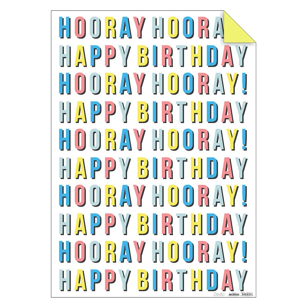 photo relating to Printable Wrapping Paper called Pleased Birthday Print Wrapping Paper by means of Meri Meri