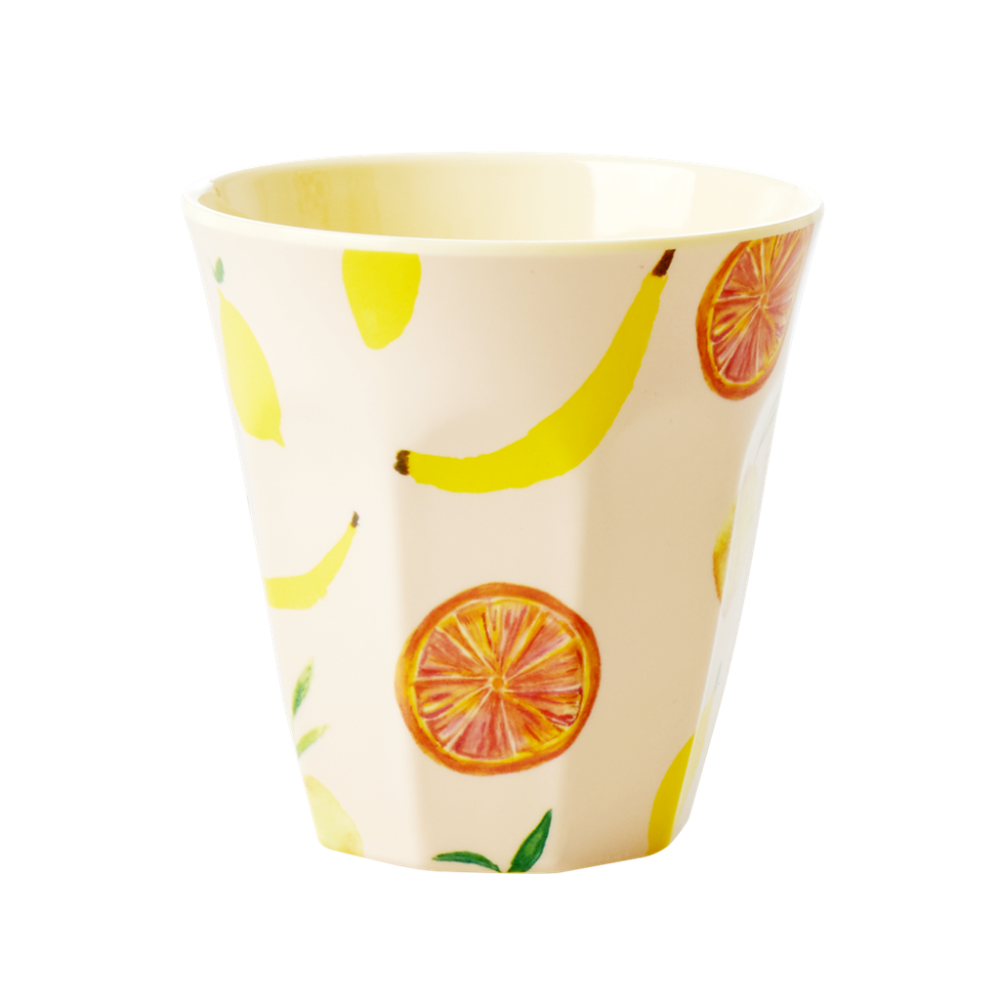 Happy Fruit Print Melamine Cup By Rice DK