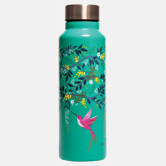 Hummingbird Print Stainless Steel Water Bottle Sara Miller London