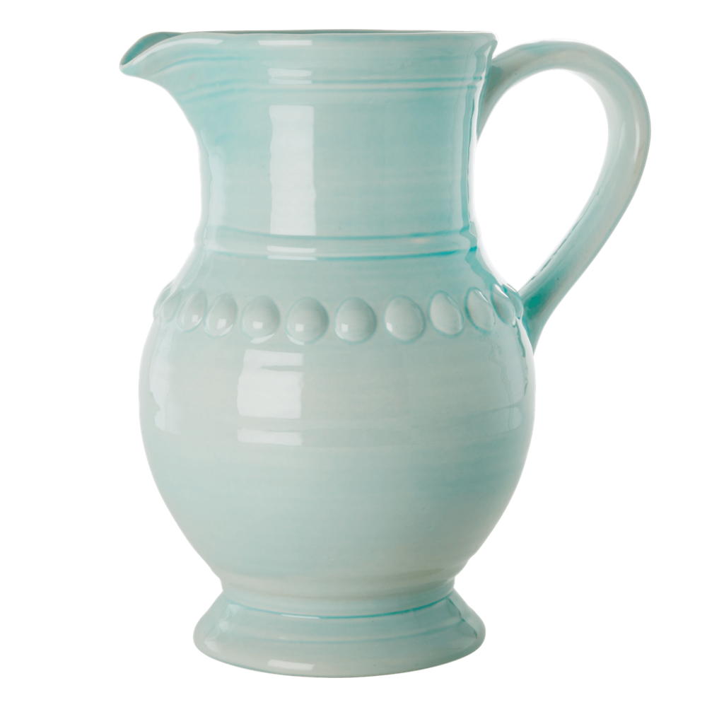 Ice Blue Extra Large Ceramic Jug By Rice DK