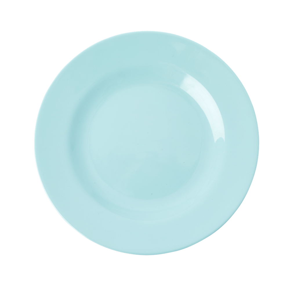 Ice Blue Melamine Side Plate or Kids Plate Rice DK