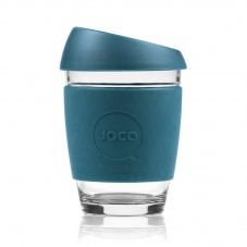 Joco glass reusable coffee cup in Deep Teal