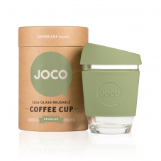 Joco glass reusable coffee cup in Army Green