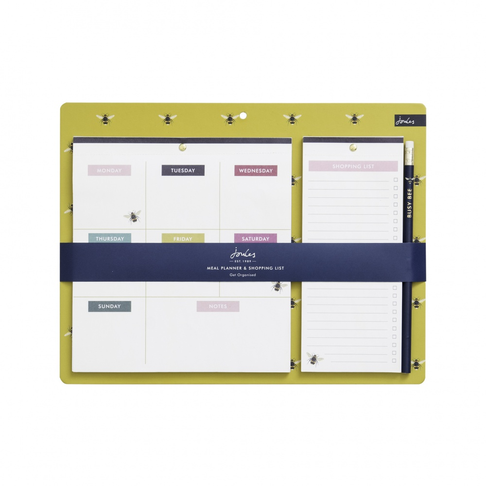 Joules Weekly Planner & Shopping List Bee Print