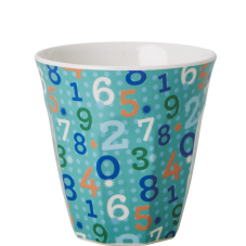 Kids small melamine cup retro numbers Rice DK