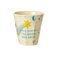 Kids Small Melamine Cup Blue Universe Print Rice DK