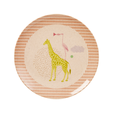 Kids Melamine & Bamboo Plate Girl Colours & Animal Prints Rice DK