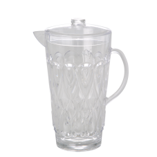 Large Clear Swirly Embossed Acrylic Jug With Lid Rice