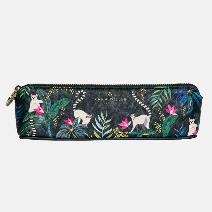 Tahiti Lemur Print Pencil Case By Sara Miller