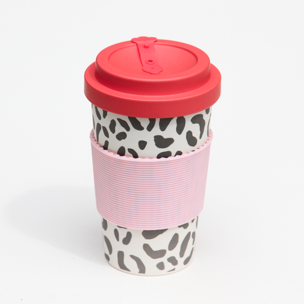 Leopard Print Bamboo Travel Coffee Cup By Caroline Gardner