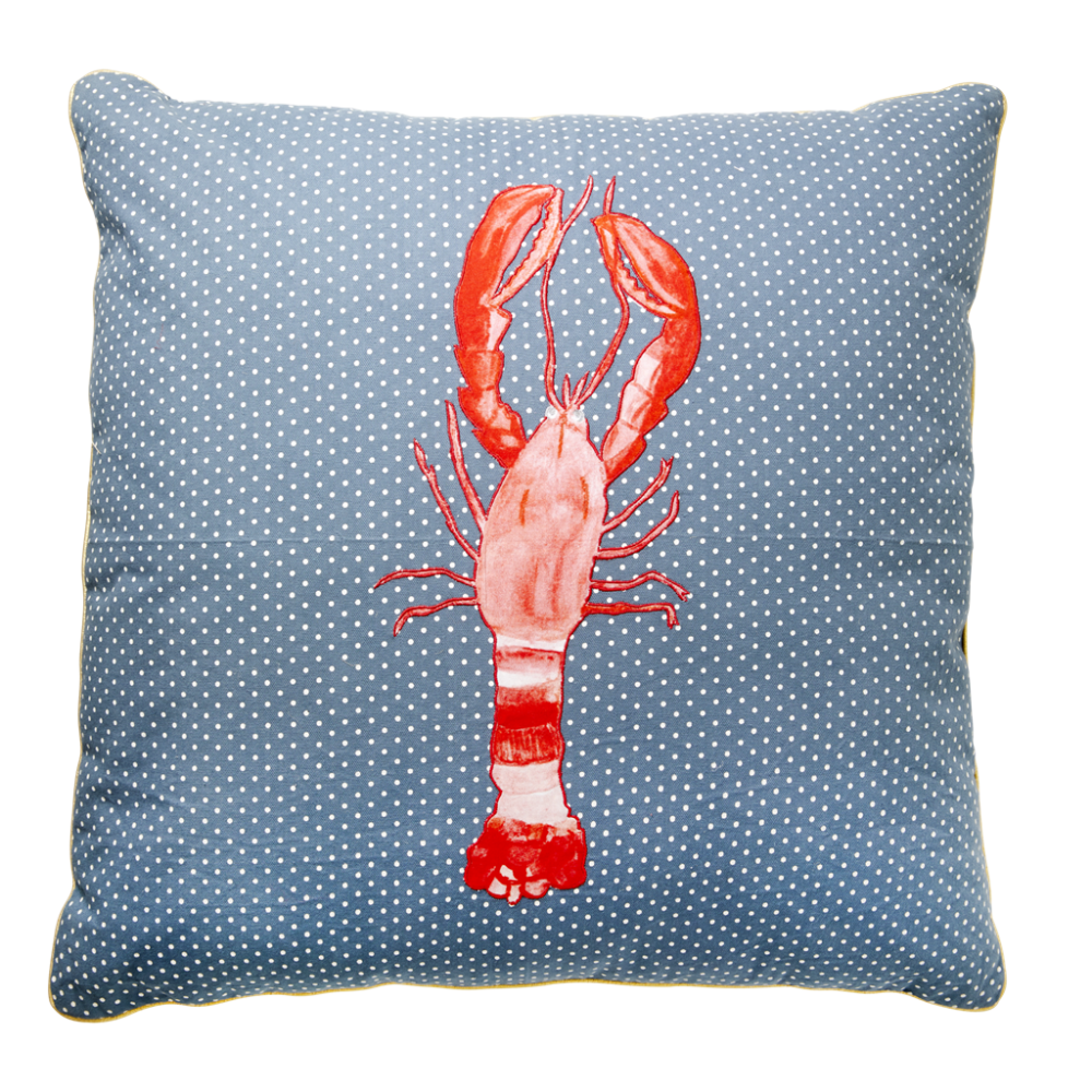 Lobster Print Large Cushion By Rice DK