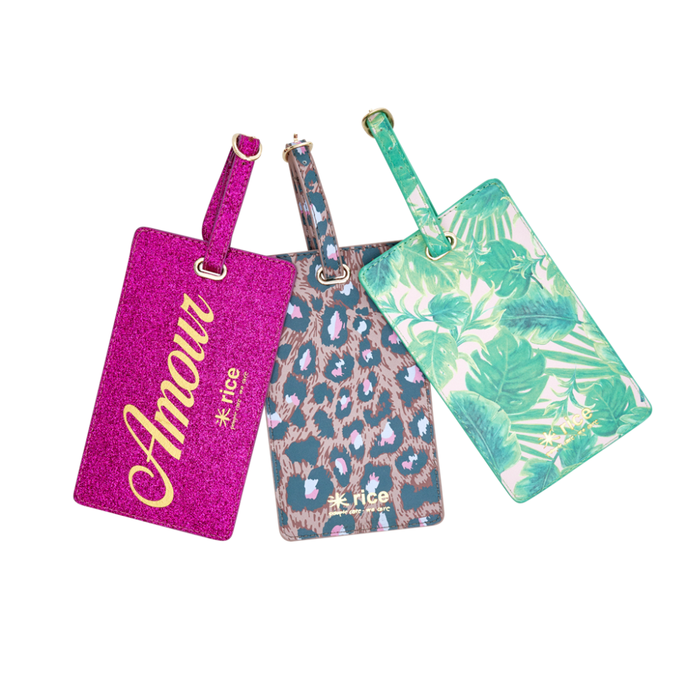 Colourful Luggage Tags by Rice DK