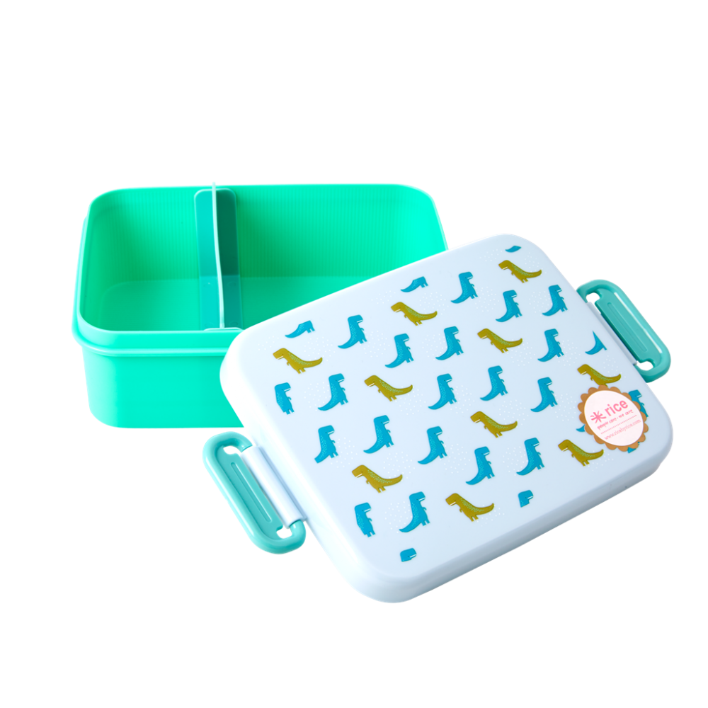 Blue & Green Dinosaur Print Lunchbox By Rice DK
