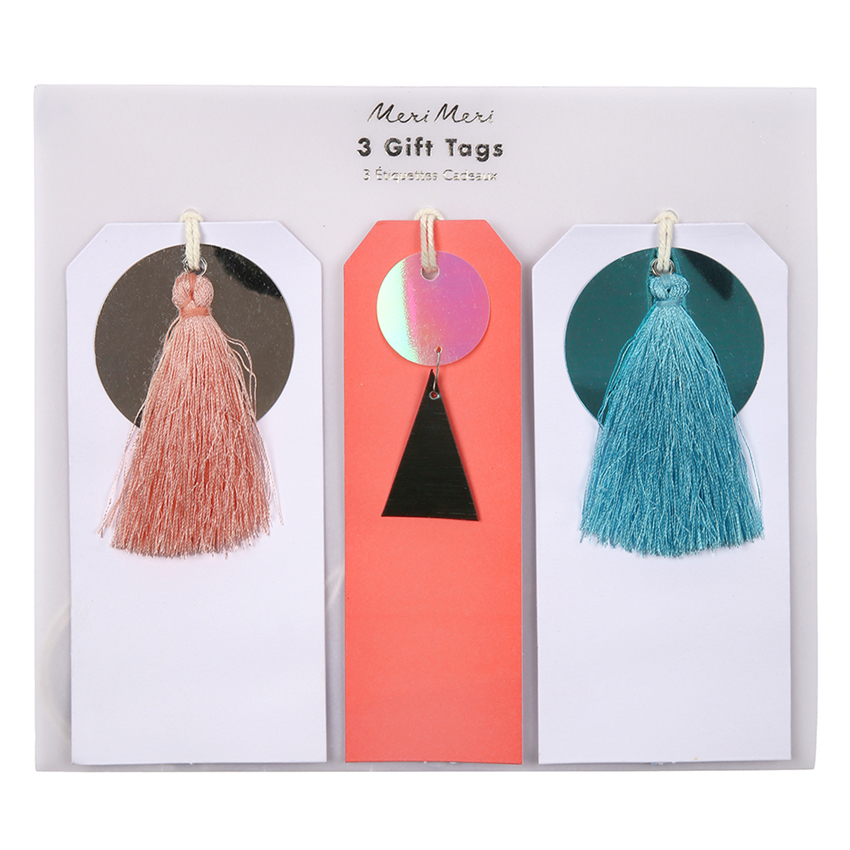 Sequin and Tassel Luxury Gift Tags By Meri Meri
