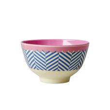 Small Blue Striped Sailor Print Melamine Bowl By Rice DK
