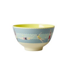 Blue Swimster Print Small Melamine Bowl By Rice DK